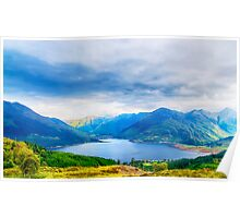 View from Bealach Ratagan to the Five Sisters of Kintail Poster