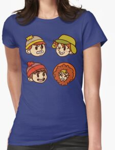 South Park Boys Chibi Heads Womens Fitted T-Shirt
