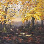 """Autumn Forest"" Painting by Karen Ilari"