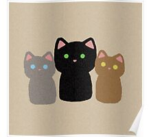 Three Curious Kittens Poster