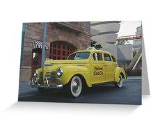 Yellow Cab Greeting Card