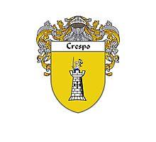 Crespo Coat of Arms/Family Crest Photographic Print