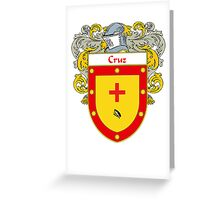 Cruz Coat of Arms/Family Crest Greeting Card