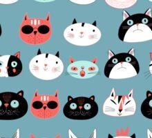 pattern amusing portraits of cats Sticker