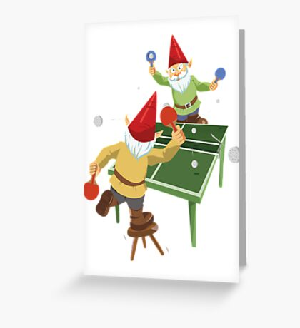 Gnome Pong Greeting Card