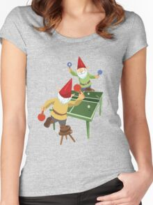 Gnome Pong Women's Fitted Scoop T-Shirt