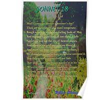 Shakespeare Sonnet 18 Poster