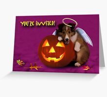 You're Invited Angel Shetland Sheepdog Greeting Card