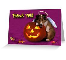 Thank You Angel Sheltie Puppy Greeting Card