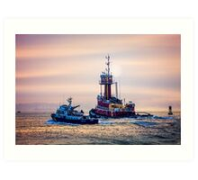 Redhook Harbor  Art Print