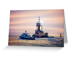 Redhook Harbor  Greeting Card