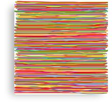 Abstract freehand lines of all colors  Canvas Print