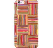 Colorful modern abstract crosshatch pattern  iPhone Case/Skin