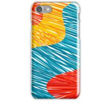Abtract modern color waves iPhone Case/Skin