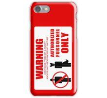 Authorized Fursonnel iPhone Case/Skin