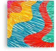 Abtract modern color waves Canvas Print
