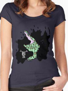 BEAST INK CROCODILE RAGE Women's Fitted Scoop T-Shirt