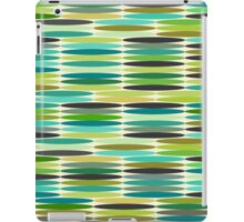 Green and turquoise vintage abstract pattern  iPad Case/Skin
