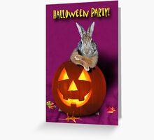 Halloween Party Bunny Rabbit Greeting Card