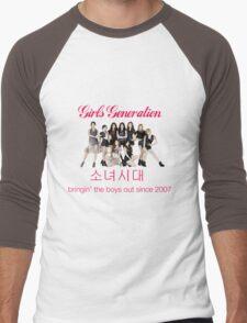 Girls' Generation Gee Logo Men's Baseball ¾ T-Shirt