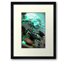 The Glowing Gamer Framed Print