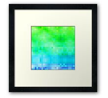 Green and blue modern mosaic pattern Framed Print