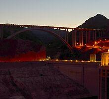 Mike O'Callaghan–Pat Tillman Memorial Bridge  by Eleu Tabares