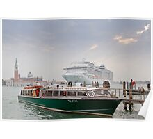 Huge Liner at Venice, Italy Poster