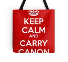 Keep Calm and Carry Canon Tote Bag