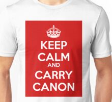 Keep Calm and Carry Canon Unisex T-Shirt