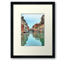 Venetian canal scene Framed Print