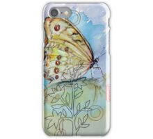 iPhone Case-Yellow Butterfly and Sewing Thread iPhone Case/Skin