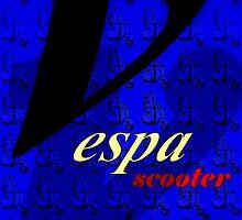 Vespa Scooter  (Blue) by art53