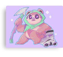 Kawaii Space Bear Canvas Print