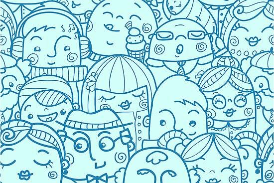 People in crowd pattern by oksancia