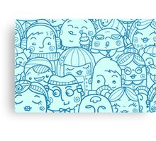 People in crowd pattern Canvas Print