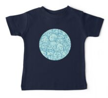 People in crowd pattern Baby Tee