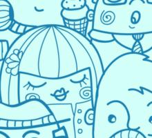People in crowd pattern Sticker