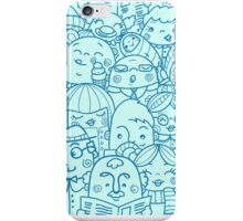 People in crowd pattern iPhone Case/Skin