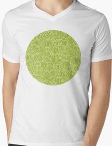 Cactus plants texture pattern Mens V-Neck T-Shirt