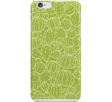 Cactus plants texture pattern iPhone Case/Skin