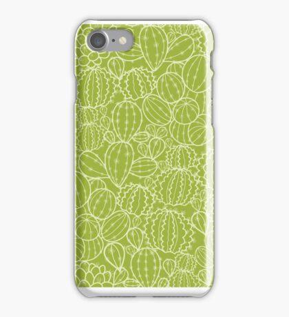 Cactus plants texture pattern iPhone Case/Skin