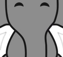 Cute Sitting Elephant Child Sticker