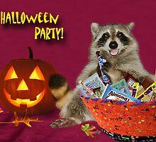 Halloween Party Raccoon by jkartlife