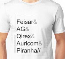 Wipeout XL/2097 Roster Shirt (Feisar&AG&Qirex&Auricom&Piranha) Unisex T-Shirt