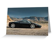 Ferrari Enzo | Profile Greeting Card