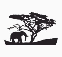 Africa Tree And Elephant by Style-O-Mat
