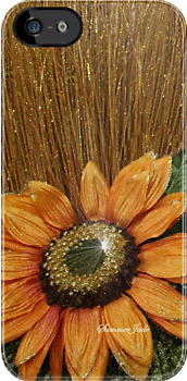 Sunflower Glitz ~ iPhone Case by SummerJade