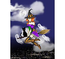 Spooky Witch Girl Photographic Print