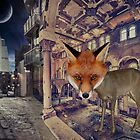 Fox at Night by MidnightMermaid